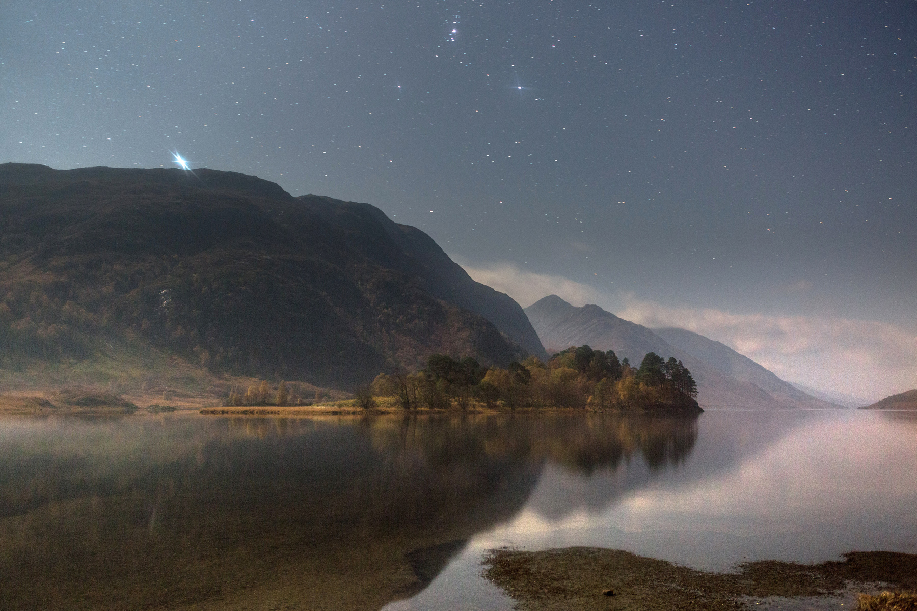 Loch Shiel by starlight by Graeme Gainey