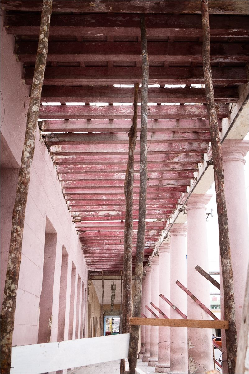 Cuban pinks & blues 2 - scaffolding