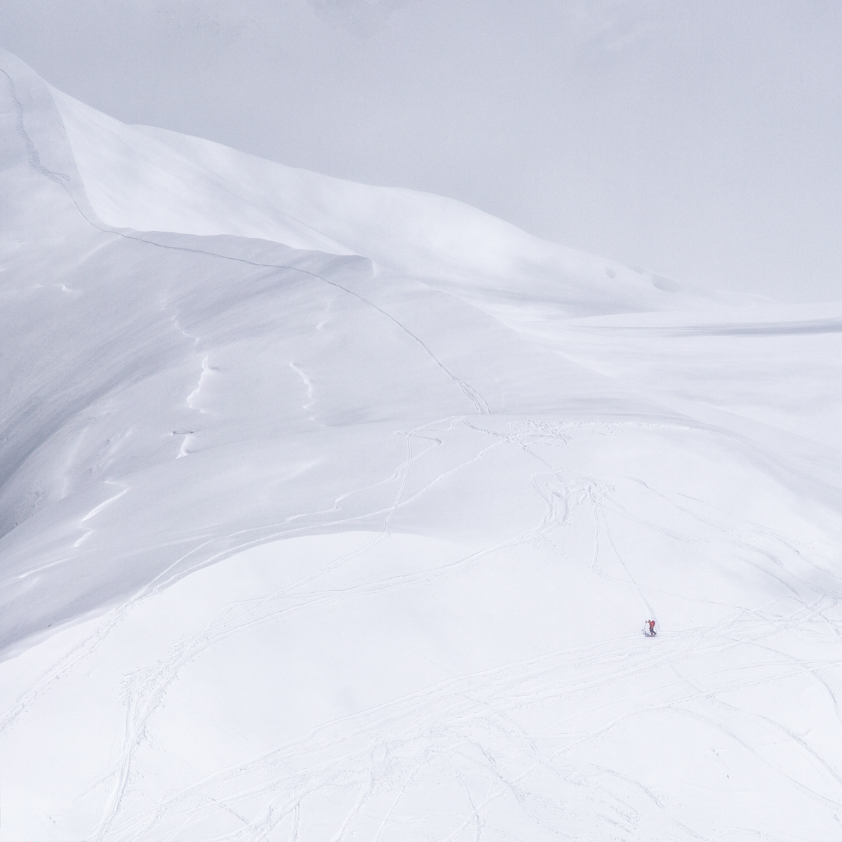 The lone skier