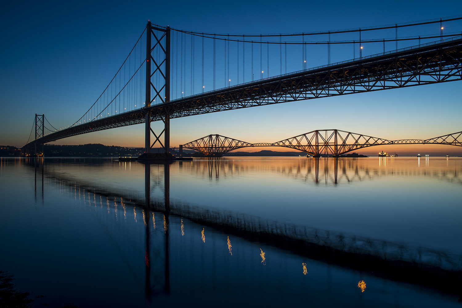 Forth bridges at dawn-1