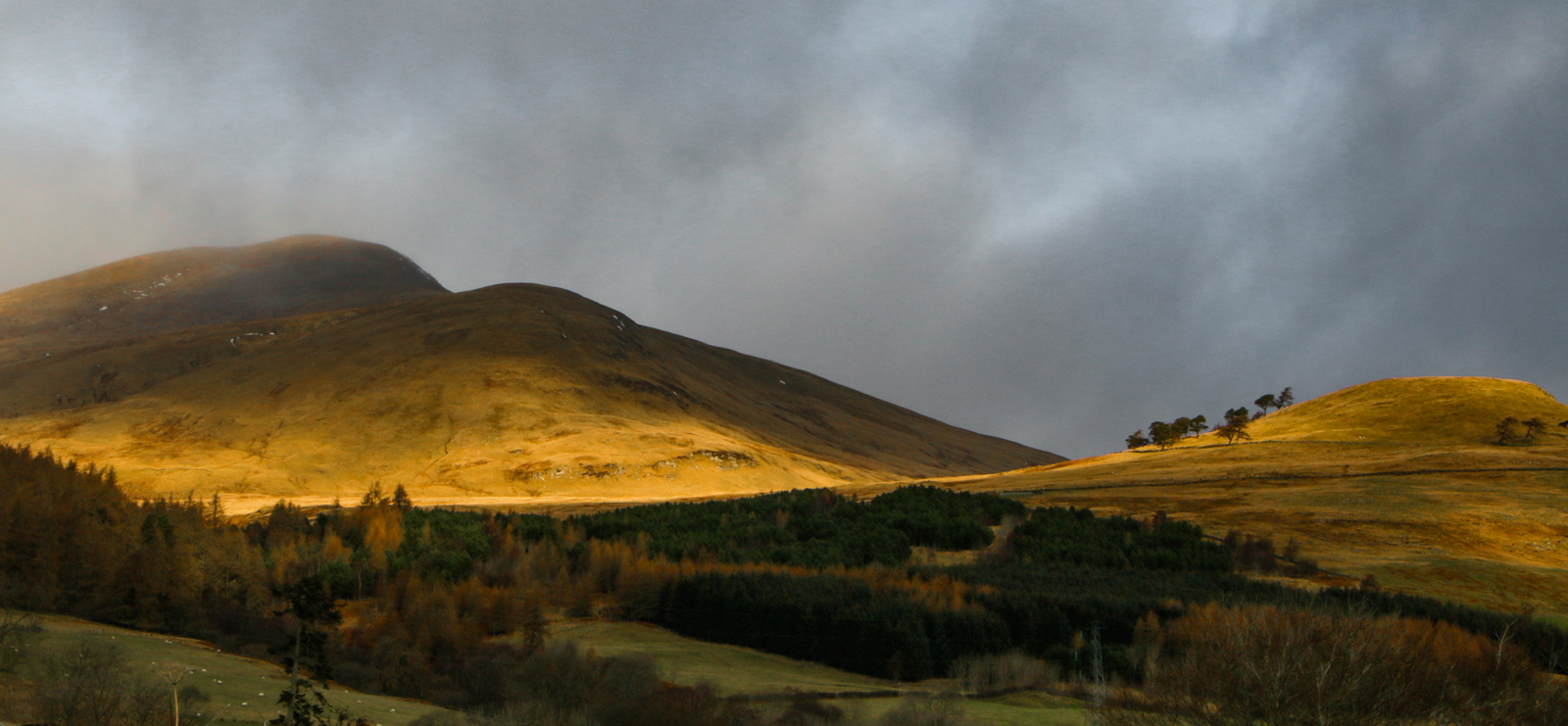 Rolling hills of perthshire