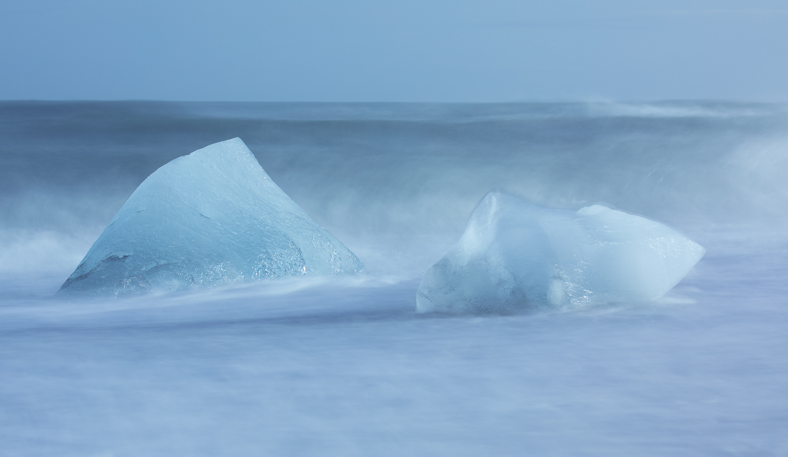 Iceland - ice in the surf-1
