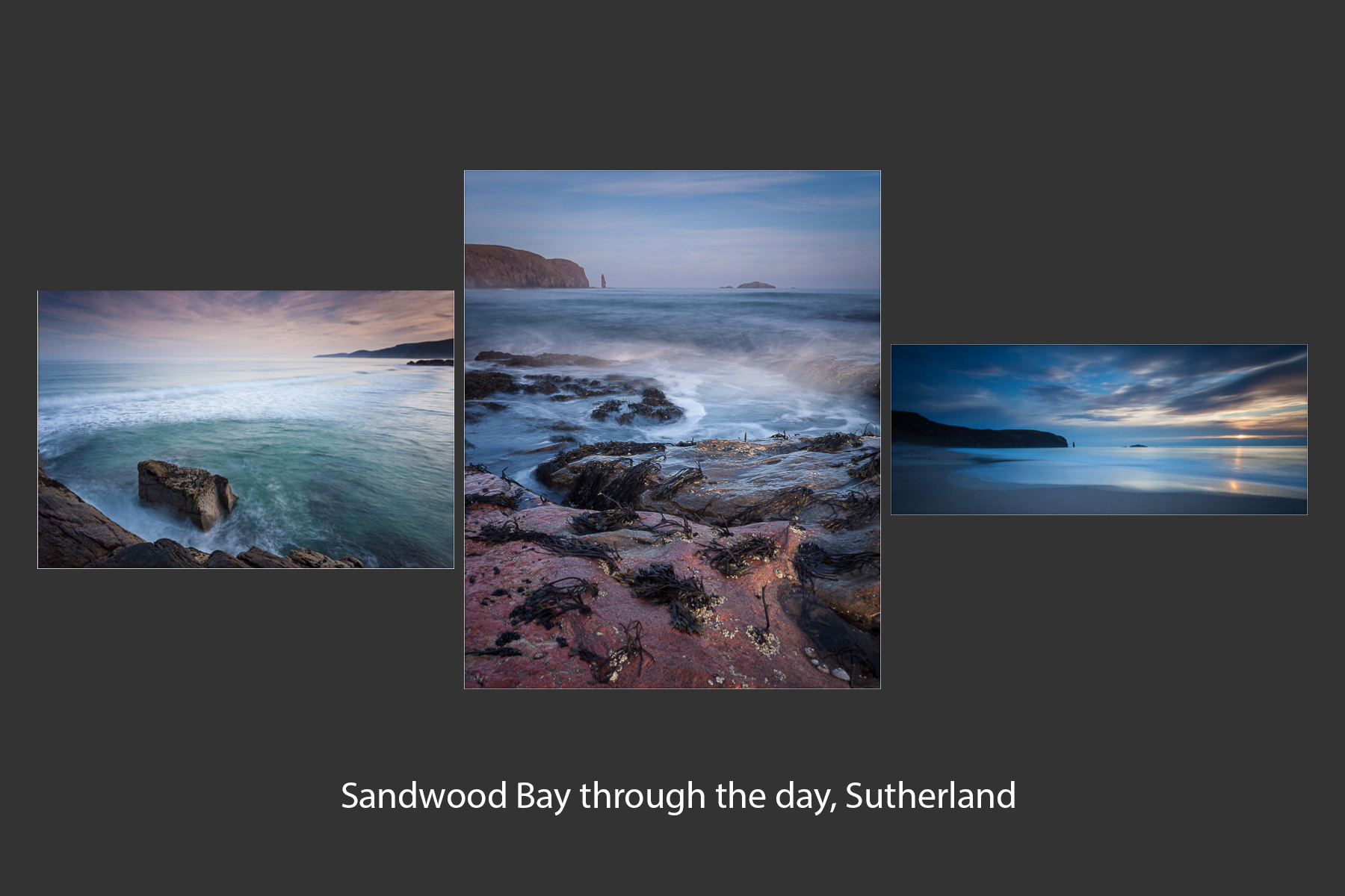 Sandwood Bay through the day, Sutherland by Tom Gardner