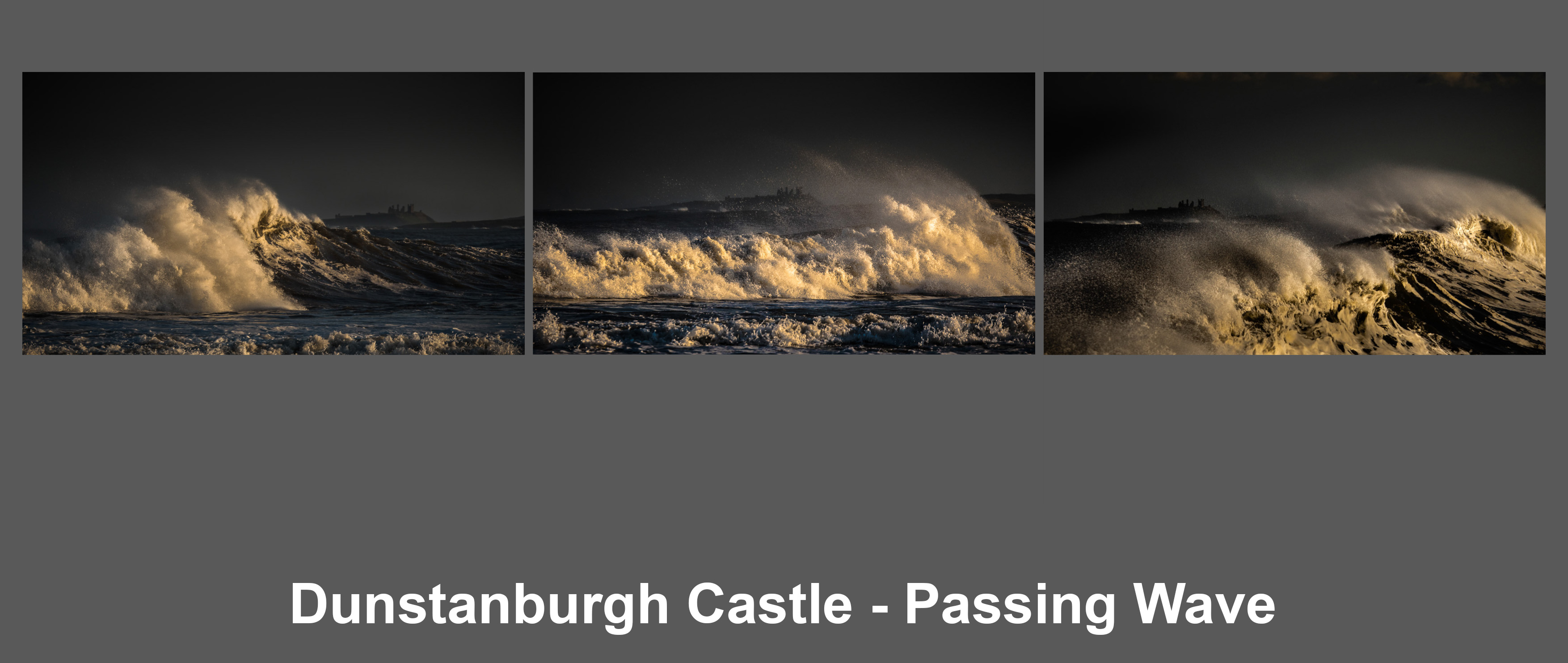 Dunstanburgh Castle - Passing Wave by Alastair Bisset