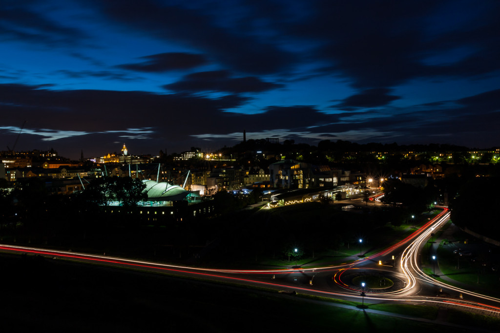 """Holyrood Light Trails"" by Chris Dow"