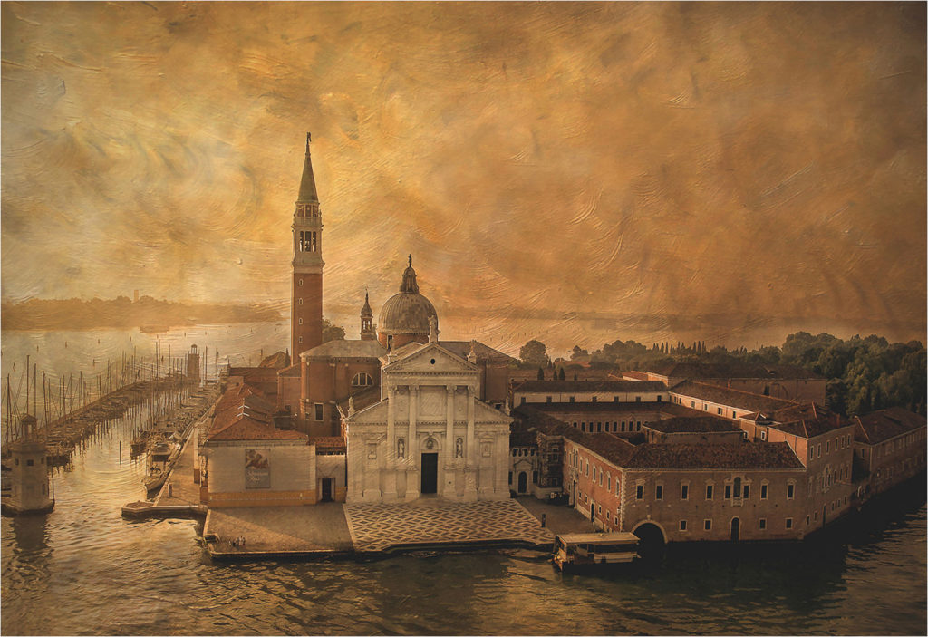 San Giorgio(Venice). In the style of the Old Masters by Ian McNa