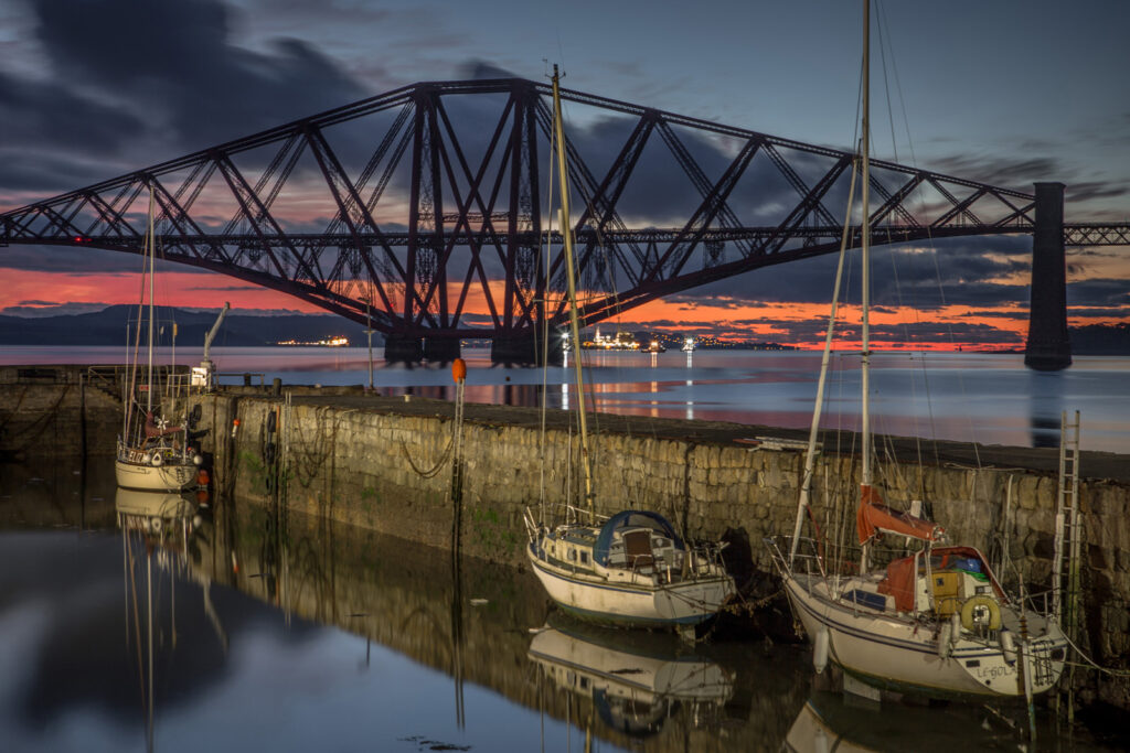 Graeme Gainey - Dawn breaking at Queensferry harbour