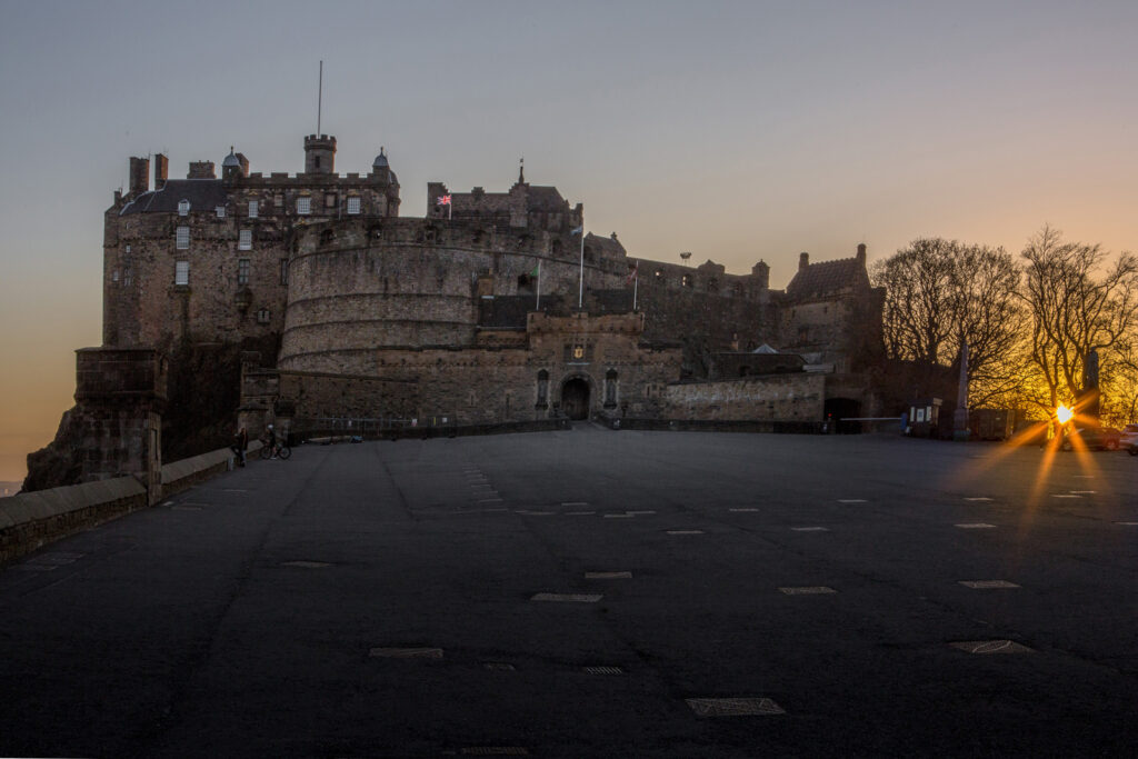 Graeme Gainey - Sunset at Edinburgh Castle esplanade