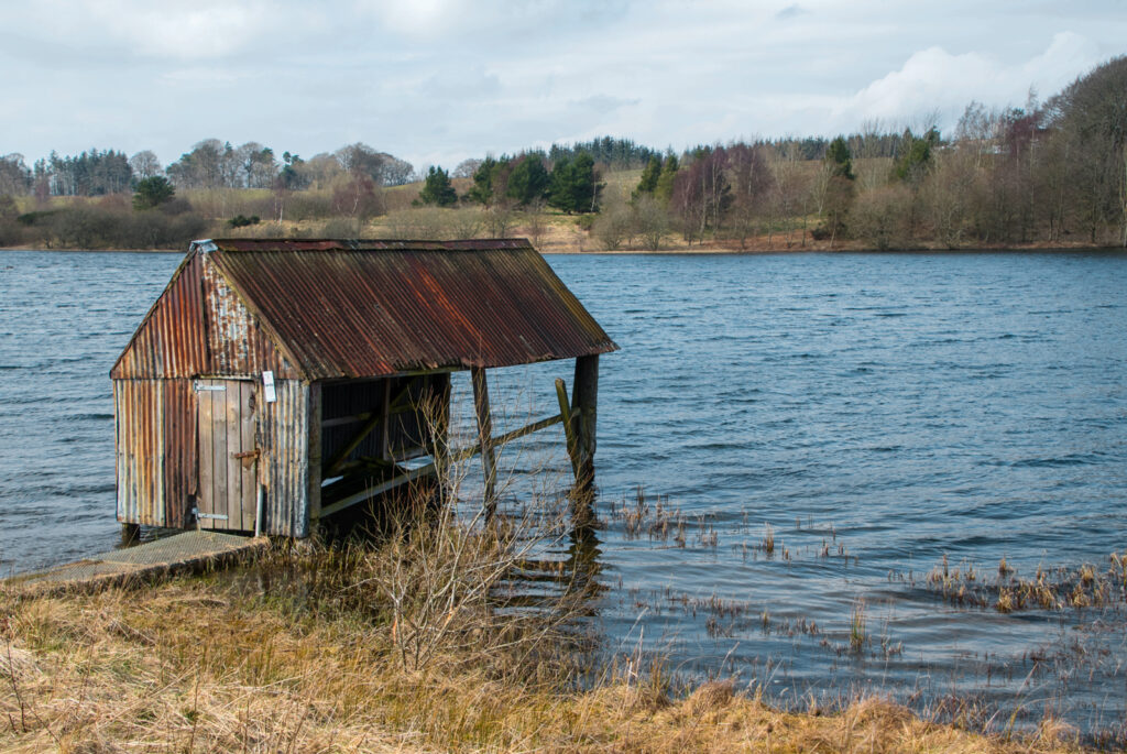 Louise Wallace - The old boathouse at Lindean Loch