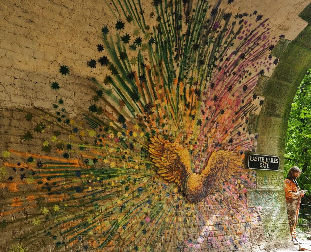 Mhairi Chambers - Colinton Tunnel mural artist