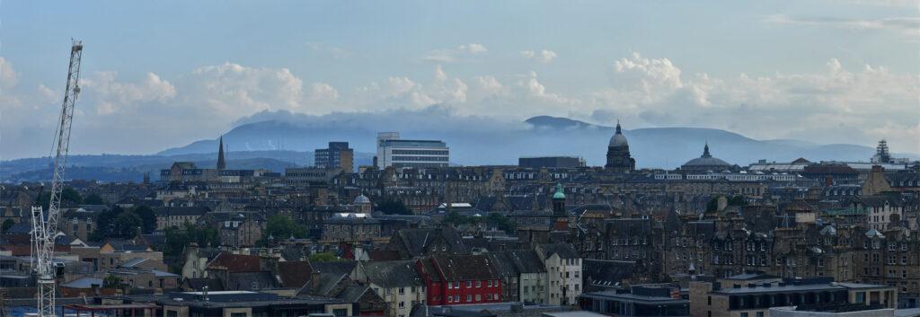 Unda McKie - 1. After rain Edinburgh panorama, Calton Hill